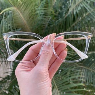 safine com br oculos de grau em acetato gatinho transparente alicia 3