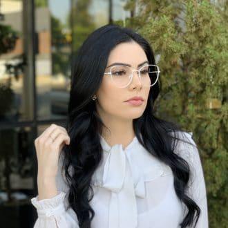 safine com br oculos de grau gatinho de metal branco antonela 5