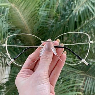 safine com br oculos de grau gatinho de metal prata antonela 3