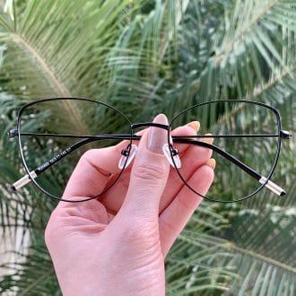 safine com br oculos de grau gatinho de metal preto antonela 4