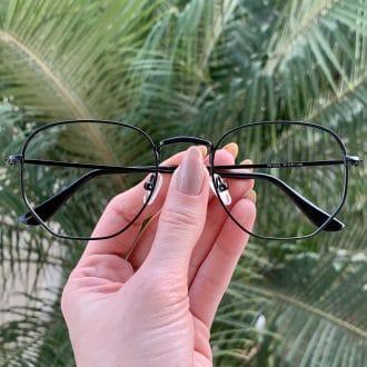safine com br oculos de grau hexagonal preto lali