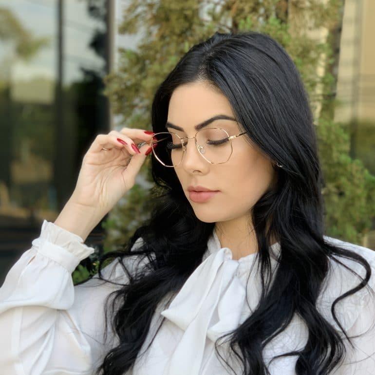 safine com br oculos de grau hexagonal rose lali 2