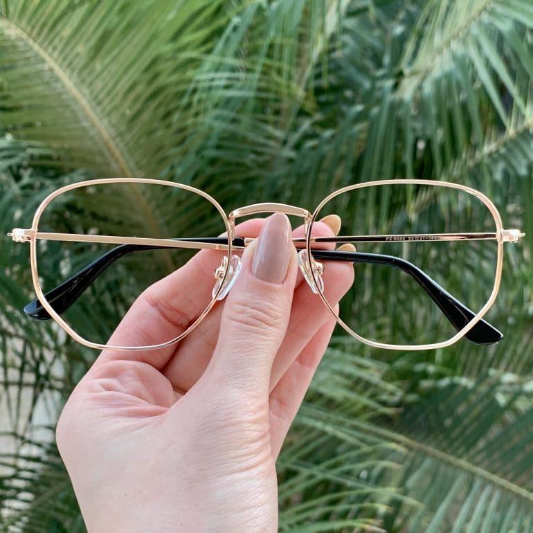 safine com br oculos de grau hexagonal rose lali