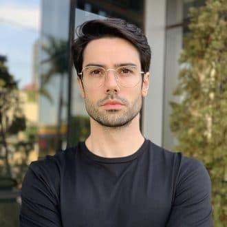safine com br oculos de grau masculino hexagonal prata 2
