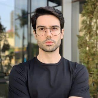 safine com br oculos de grau masculino hexagonal preto 1