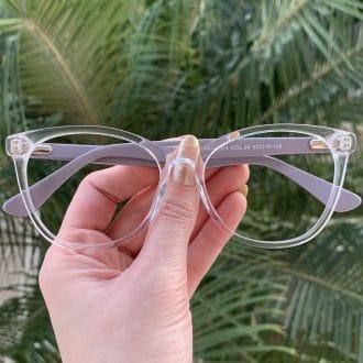 safine com br oculos de grau redondo em acetato lilas helena