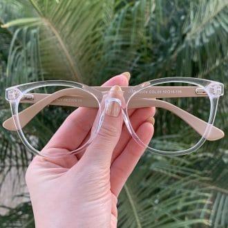 safine com br oculos de grau redondo em acetato nude helena