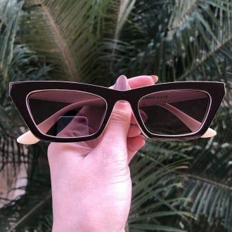safine com br oculos de sol gatinho marrom laiz