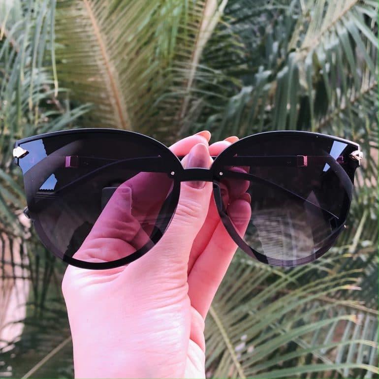safine com br oculos de sol gatinho preto fosco brenda