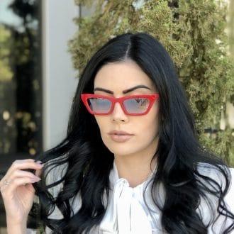 safine com br oculos de sol gatinho vermelho laiz