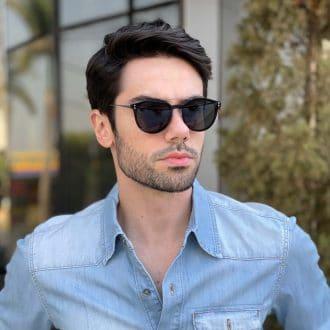 safine com br oculos 2 em 1 clip on masculino redondo azul pedro 1