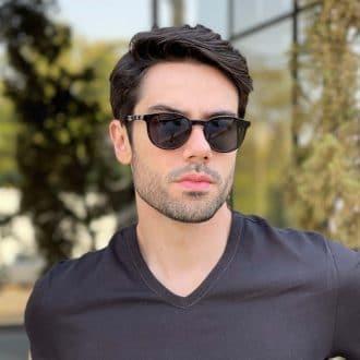 safine com br oculos 2 em 1 clip on masculino redondo marrom caio 2