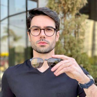 safine com br oculos 2 em 1 clip on masculino redondo marrom caio 3