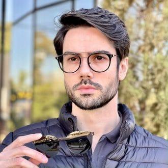 safine com br oculos 2 em 1 clip on masculino redondo preto pedro 2