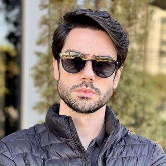safine com br oculos 2 em 1 clip on masculino redondo preto pedro