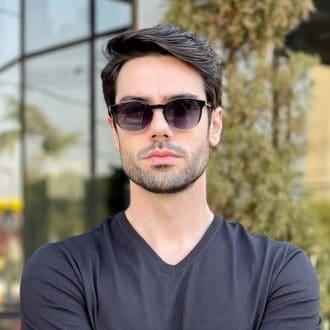 safine com br oculos 2 em 1 clip on masculino redondo preto transparente caio 3