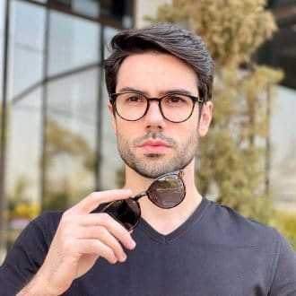 safine com br oculos 2 em 1 clip on masculino redondo tartaruga caio 2