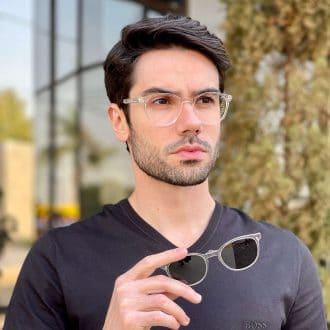 safine com br oculos 2 em 1 clip on masculino redondo transparente caio 2