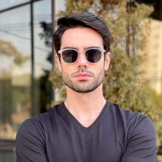 safine com br oculos 2 em 1 clip on masculino redondo transparente caio