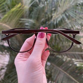 safine com br oculos 2 em 1 clip on redondo marrom alice 2