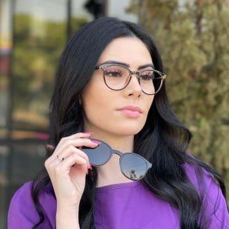 safine com br oculos 2 em 1 clip on redondo marrom alice 7