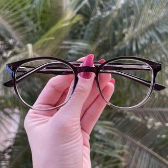 safine com br oculos 2 em 1 clip on redondo preto transparente alice 1