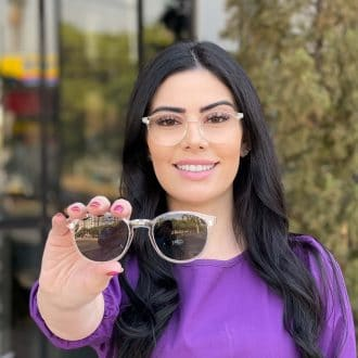 safine com br oculos 2 em 1 clip on redondo transparente alice 2