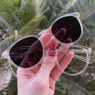 safine com br oculos 2 em 1 clip on redondo transparente alice 6
