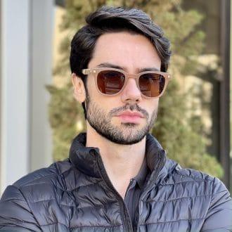 safine com br oculos de sol masculino quadrado marrom leo 1