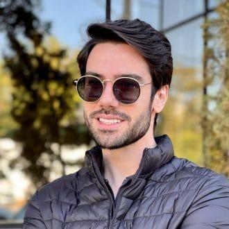 safine com br oculos de sol masculino redondo preto com dourado edu 1