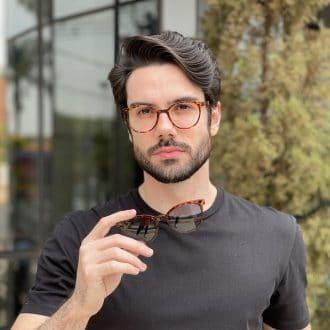safine com br oculos 2 em 1 clip on acetato masculino redondo tartaruga silvio 3