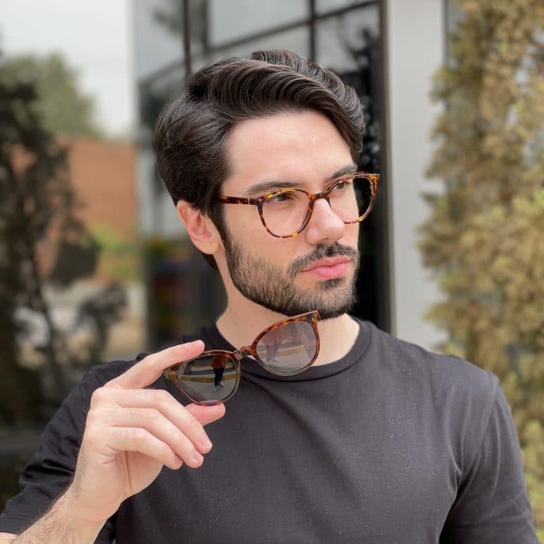 safine com br oculos 2 em 1 clip on acetato masculino redondo tartaruga silvio 4