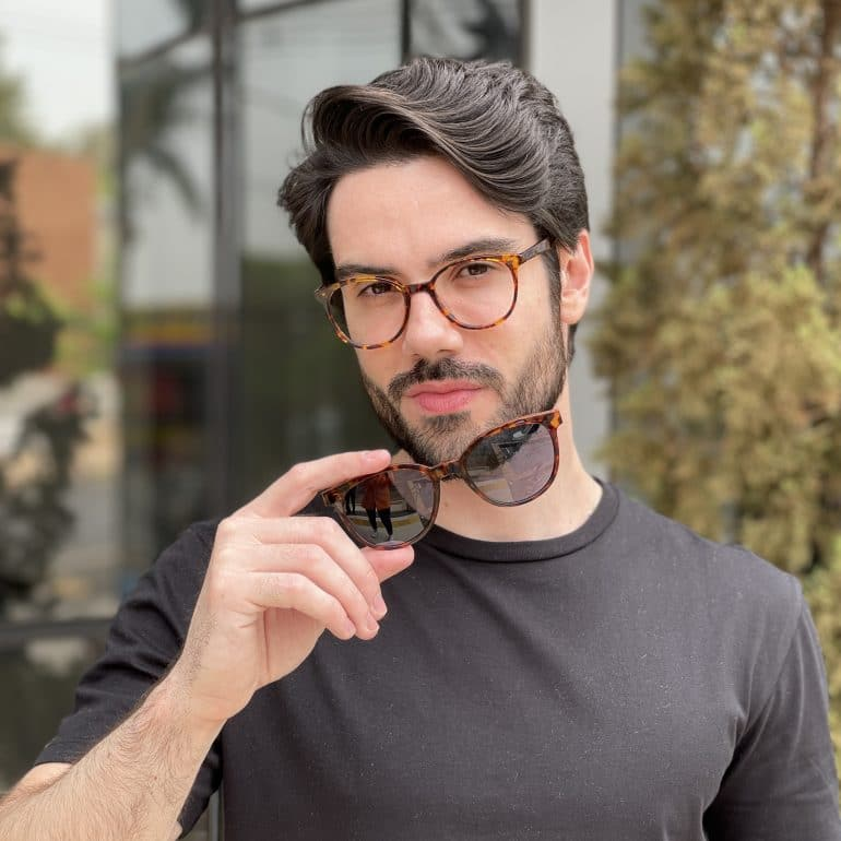 safine com br oculos 2 em 1 clip on acetato masculino redondo tartaruga silvio 5