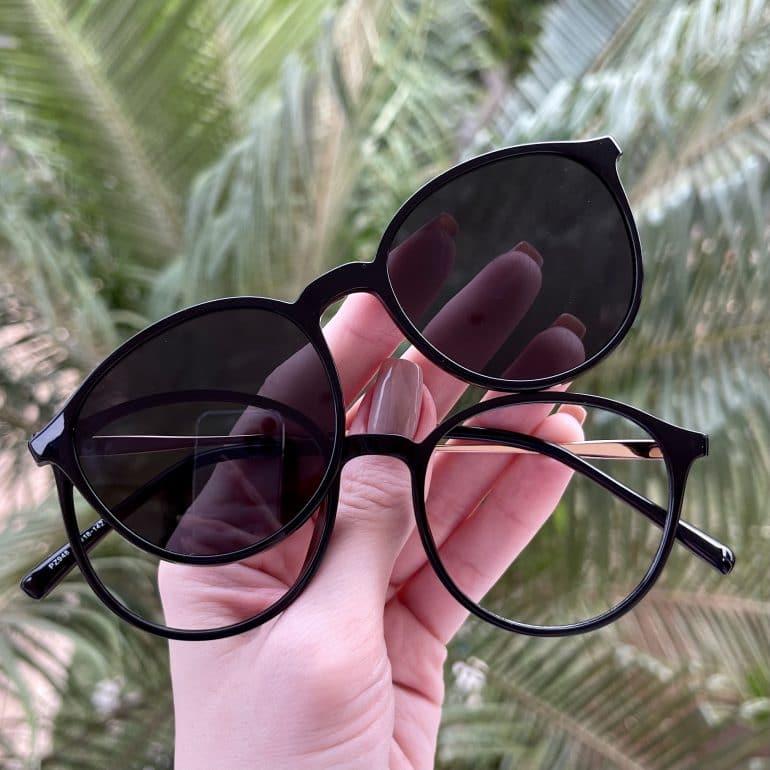 safine com br oculos 2 em 1 clip on redondo preto paola 2