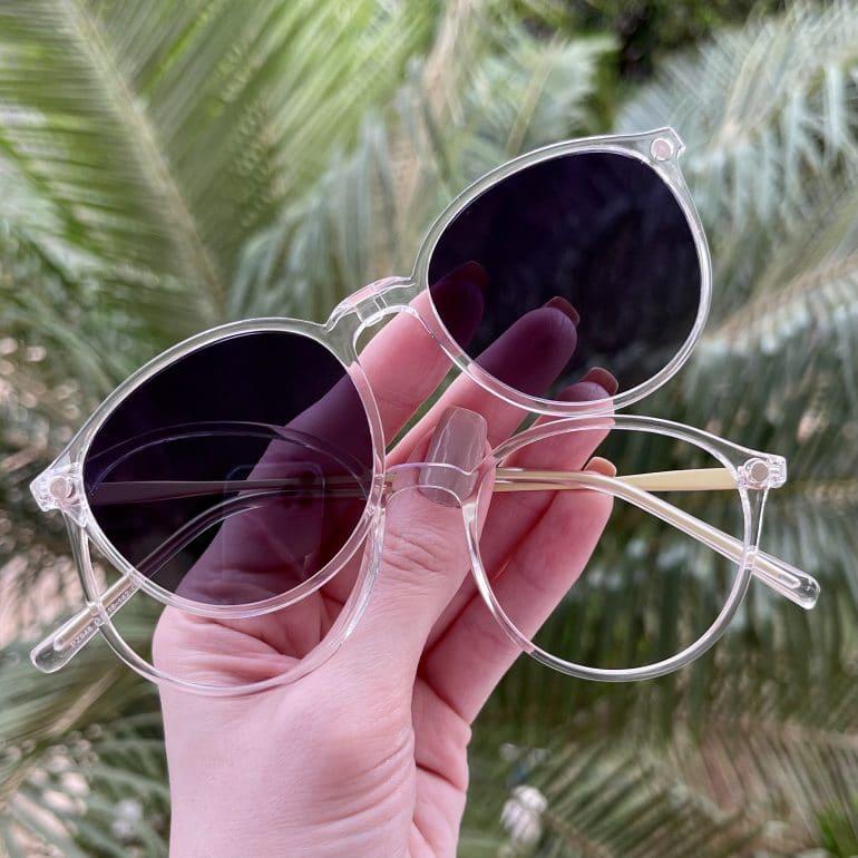 safine com br oculos 2 em 1 clip on redondo transparente paola 10