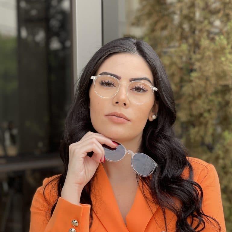 safine com br oculos 2 em 1 clip on redondo transparente paola 7