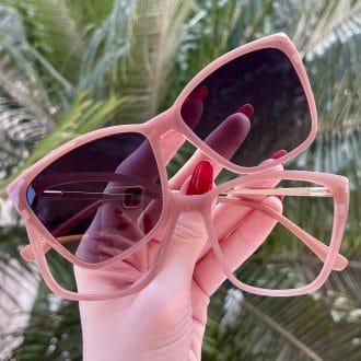 Óculos 2 em 1 Gatinho Rosé Ana