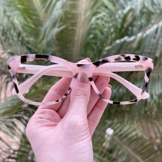 safine com br oculos de grau gatinho em acetato tartaruga com rosa jolie 1