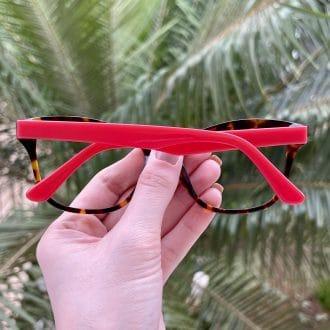 safine com br oculos de grau gatinho em acetato tartaruga com vermelho jolie 1