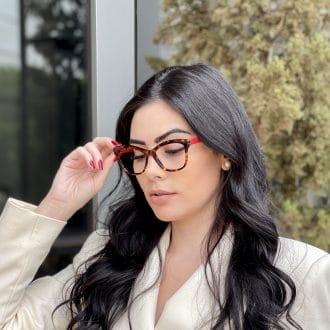 safine com br oculos de grau gatinho em acetato tartaruga com vermelho jolie 3