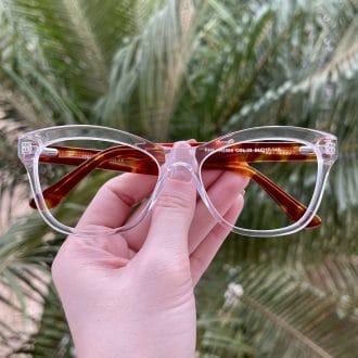 safine com br oculos de grau gatinho em acetato transparente jolie