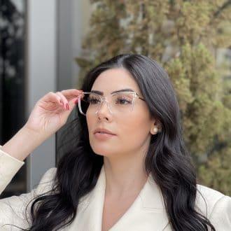 safine com br oculos de grau gatinho transparente camila 2