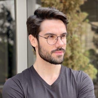 safine com br oculos de grau masculino redondo preto tony 1