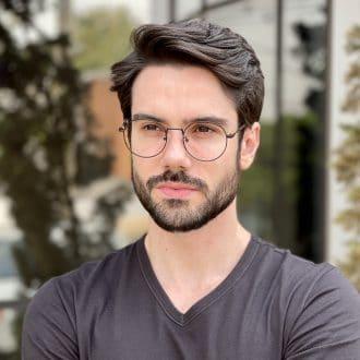 safine com br oculos de grau masculino redondo preto tony