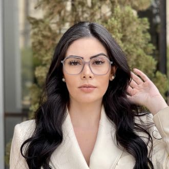 safine com br oculos de grau quadrado em acetato cinza giovana 2