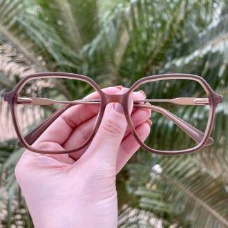 safine com br oculos de grau quadrado em acetato marrom giovana 3