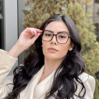 safine com br oculos de grau quadrado em acetato preto giovana 3