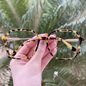 safine com br oculos de grau quadrado em acetato tartaruga giovana 3