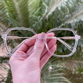 safine com br oculos de grau quadrado em acetato transparente giovana