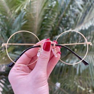 safine com br oculos de grau redondo dourado nathalia 4